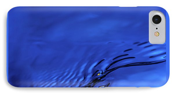 Blue Wave Abstract Number 5 IPhone Case