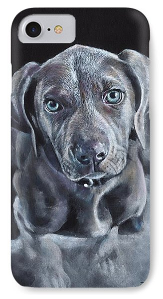 Blue Weimaraner IPhone Case