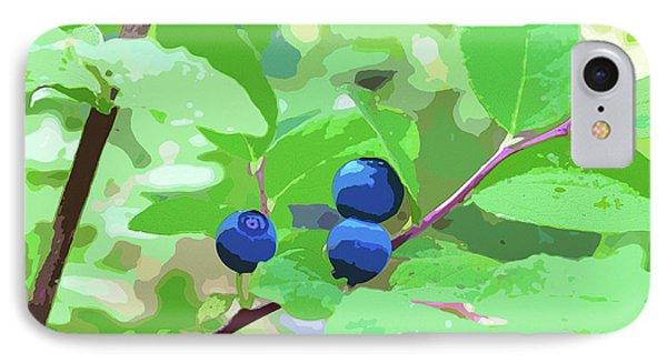 Blueberries Halftone IPhone Case
