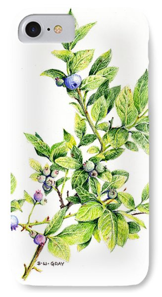Blueberry Branch IPhone Case