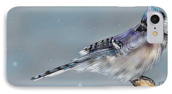 Winter Bluejay IPhone Case