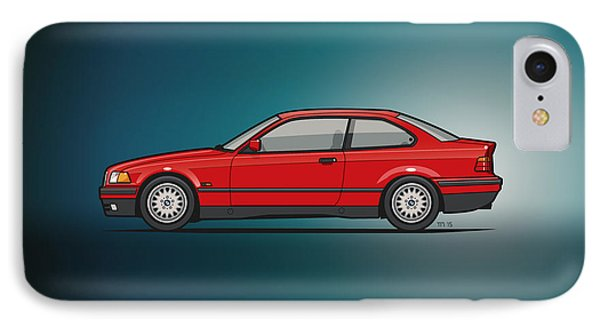 Bmw 3 Series E36 Coupe Red IPhone Case