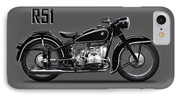 Transportation iPhone 8 Case - The R51 Motorcycle by Mark Rogan