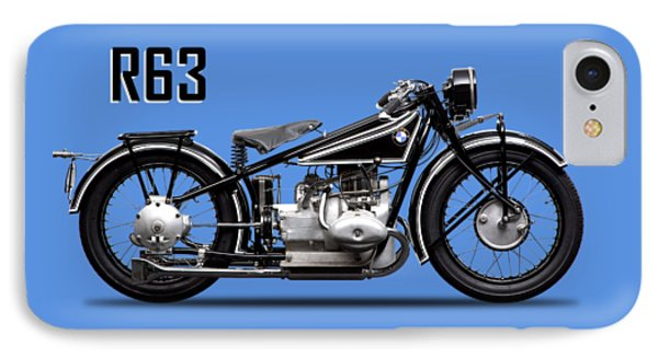 Transportation iPhone 8 Case - The R63 Motorcycle by Mark Rogan