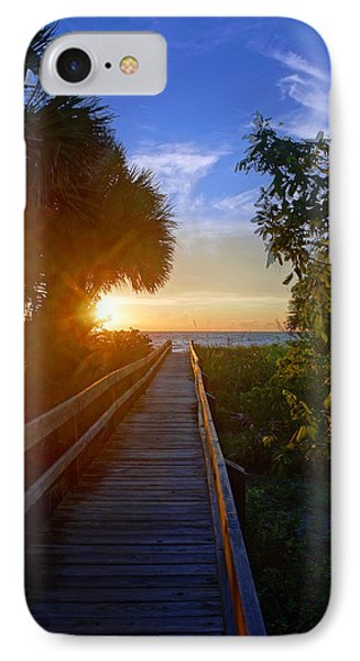 Sunset At The End Of The Boardwalk IPhone Case