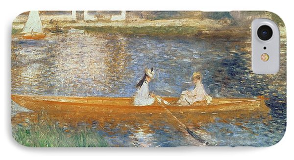 Impressionism iPhone 8 Case - Boating On The Seine by Pierre Auguste Renoir