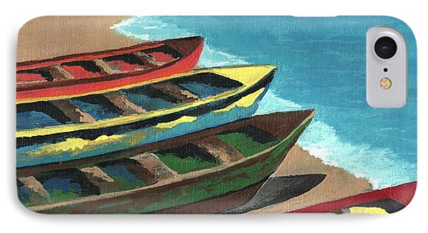 Boats In A Row IPhone Case