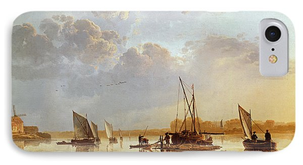 Boat iPhone 8 Case - Boats On A River by Aelbert Cuyp