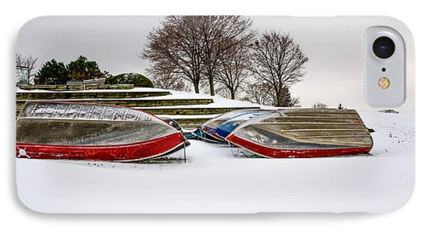 Boats Waiting On Spring IPhone Case