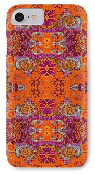 IPhone Case featuring the painting Boho Hippie Garden - Tangerine by Lisa Weedn