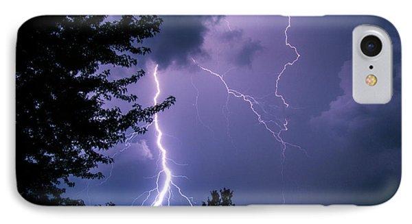 Bold Lightning Strokes IPhone Case
