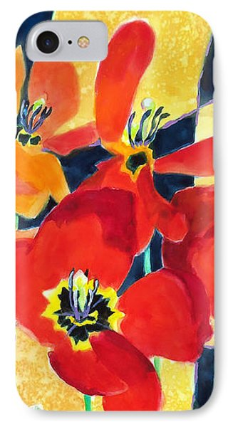 Bold Quilted Tulips IPhone Case