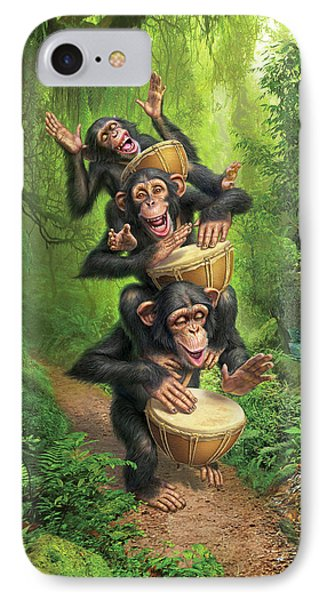 Drum iPhone 8 Case - Bongo In The Jungle by Mark Fredrickson