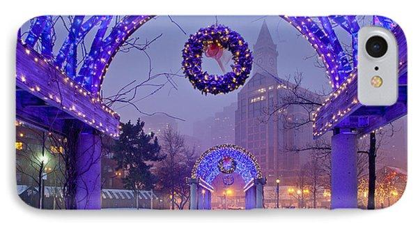 Boston Blue Christmas IPhone Case