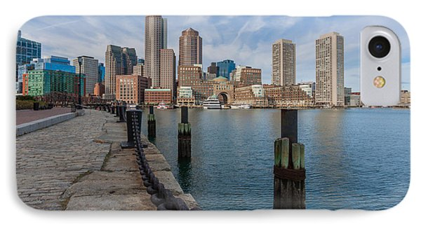 Boston Cityscape From The Seaport District 3 IPhone Case