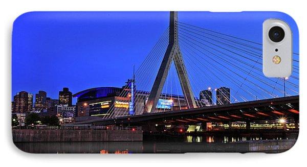 Boston Garden And Zakim Bridge IPhone Case
