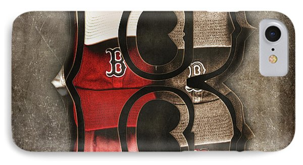 IPhone Case featuring the photograph Boston Red Sox  - Letter B by Joann Vitali