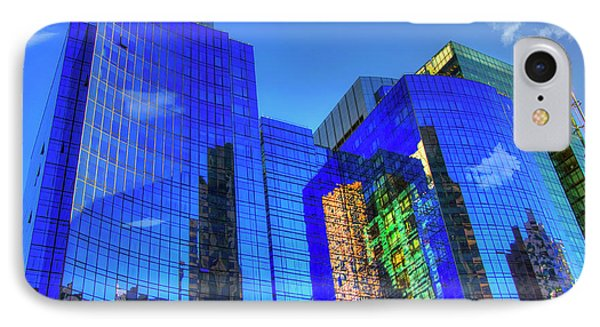 IPhone Case featuring the photograph Boston Reflections - Fort Point Channel by Joann Vitali