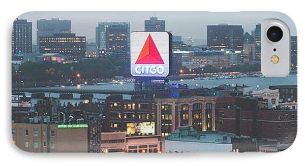 Boston Skyline Aerial Panorama Photo IPhone Case