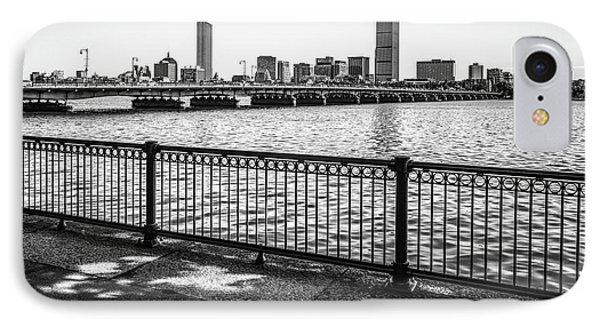 Boston Skyline Harvard Bridge Back Bay Photo IPhone Case