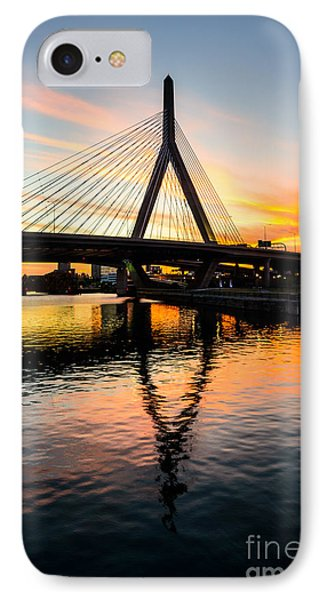 Boston Zakim Bunker Hill Bridge At Sunset IPhone Case