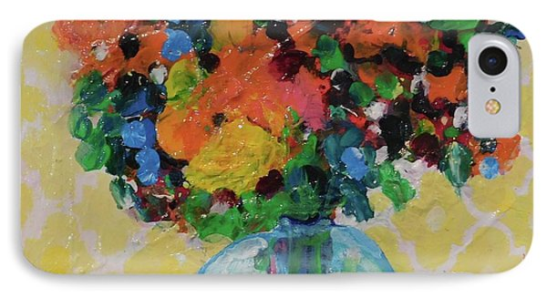 Bouquet-a-day #7 Original Acrylic Painting Free Shipping 59.00 By Elaine Elliott IPhone Case