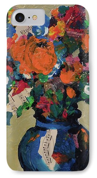 Bouquet-a-day #8 Original Mixed Media Painting On Canvas 70.00 Incl Shipping By Elaine Elliott IPhone Case