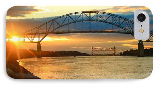 Bourne Bridge Sunset IPhone Case