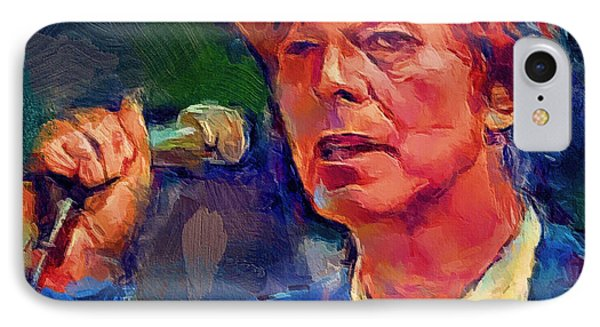 Bowie Singing 2 IPhone Case