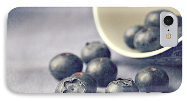 Fruit iPhone 8 Case - Bowl Of Blueberries by Lyn Randle
