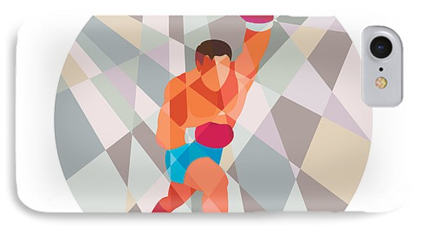 Boxer Boxing Punching Circle Low Polygon IPhone Case