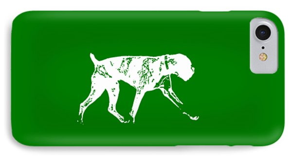 Boxer Dog Tee White Ink IPhone Case