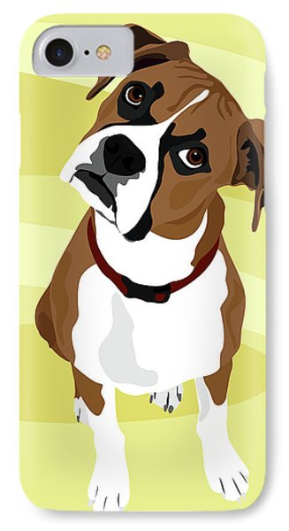 Boxer Head Tilt IPhone Case