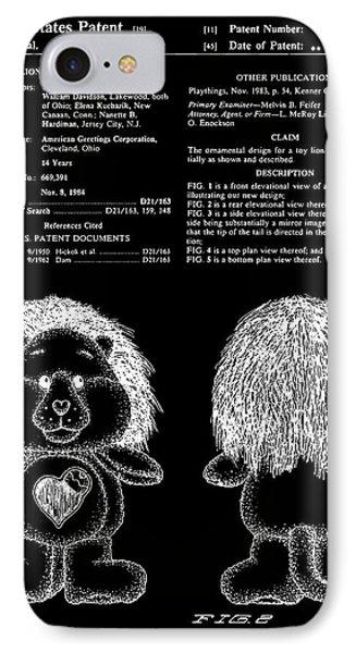 Brave Heart Lion Patent - Black IPhone Case