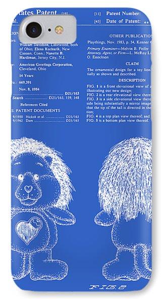Brave Heart Lion Patent - Blueprint IPhone Case