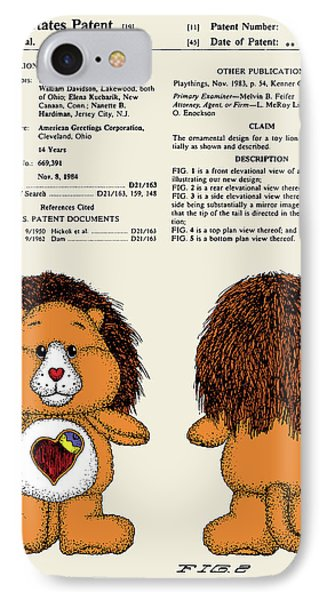 Brave Heart Lion Patent IPhone Case