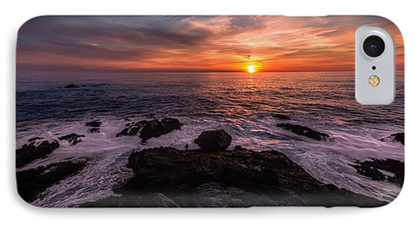 Breaking Waves At Sunset IPhone Case