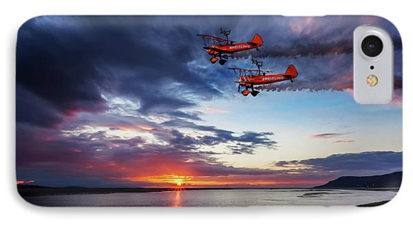 Breitling Wingwalkers Sunset IPhone Case