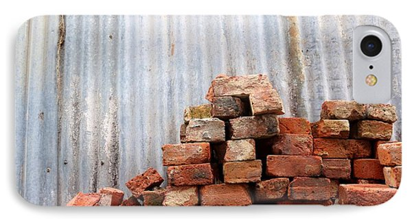 IPhone Case featuring the photograph Brick Piled by Stephen Mitchell