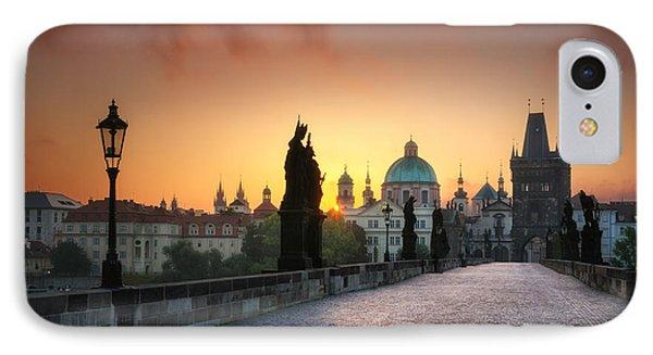 Bright Morning In Prague, Czech Republic IPhone Case
