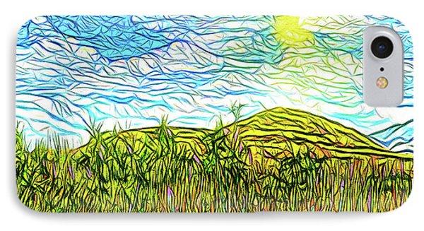 Bright Sky Summer - Field In Boulder County Colorado IPhone Case