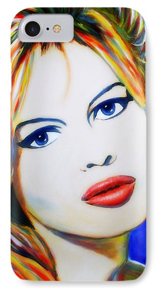 Brigitte Bardot Pop Art Portrait IPhone Case