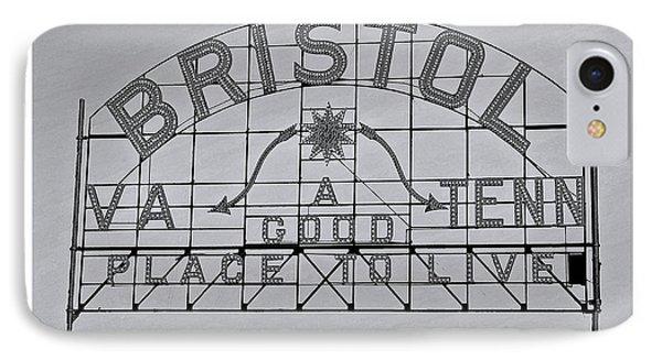 Bristol Slogan Sign Va Tn IPhone Case