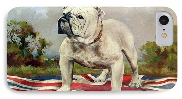 Dog iPhone 8 Case - British Bulldog by English School