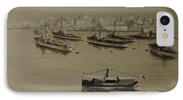 British Warships In Malta Harbour 1941 IPhone Case