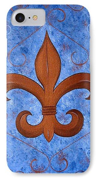 Bronze Fleur De Lis IPhone Case