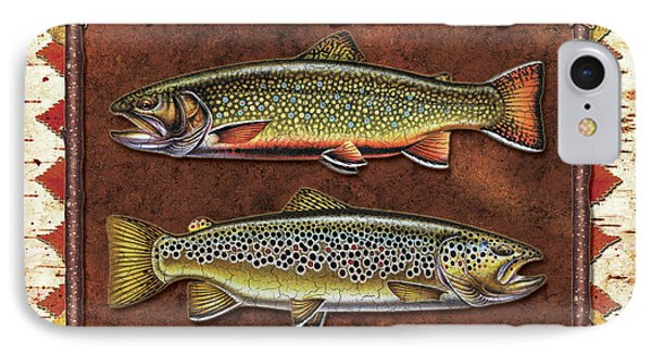 Brook And Brown Trout Lodge IPhone Case