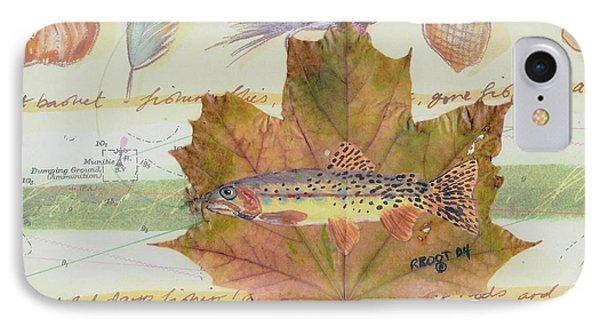 Brook Trout On Fly #2 IPhone Case