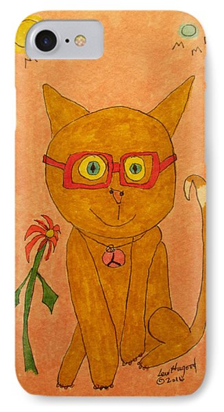 Brown Cat With Glasses IPhone Case