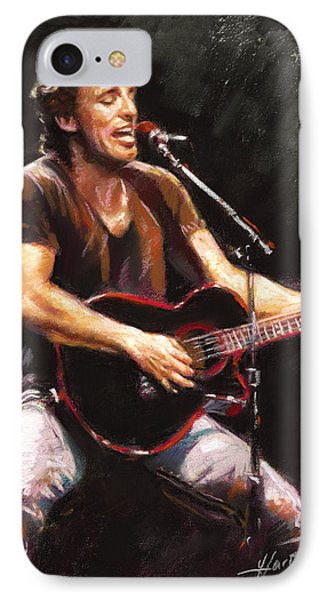 Musicians iPhone 8 Case - Bruce Springsteen  by Ylli Haruni